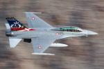 Ryan-airさんが、Rainbow Canyon - Panamint Springsで撮影したデンマーク空軍 F-16BM Fighting Falconの航空フォト(写真)