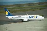 かみきりむしさんが、中部国際空港で撮影したスカイマーク 737-8HXの航空フォト(写真)