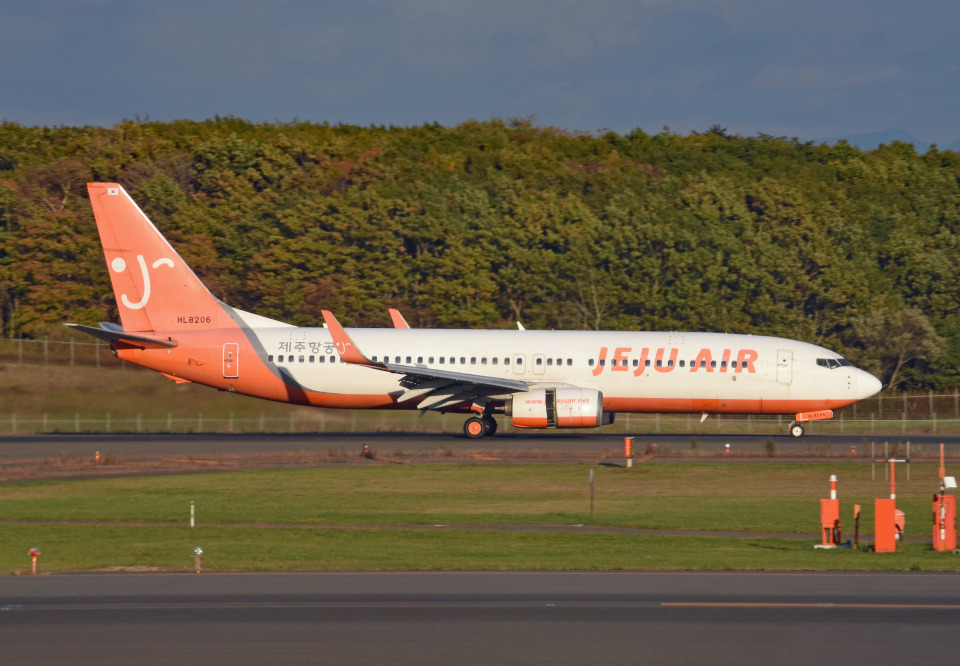 tsubasa0624さんのチェジュ航空 Boeing 737-800 (HL8206) 航空フォト