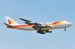 SKYLINEさんが、成田国際空港で撮影したイベリア航空 747-256Bの航空フォト(写真)