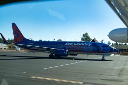 m-takagiさんが、グランドキャニオン国立公園空港で撮影したサンカントリー・エアラインズ 737-8BKの航空フォト(飛行機 写真・画像)