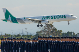 カヤノユウイチさんが、米子空港で撮影したエアソウル A321-231の航空フォト(写真)