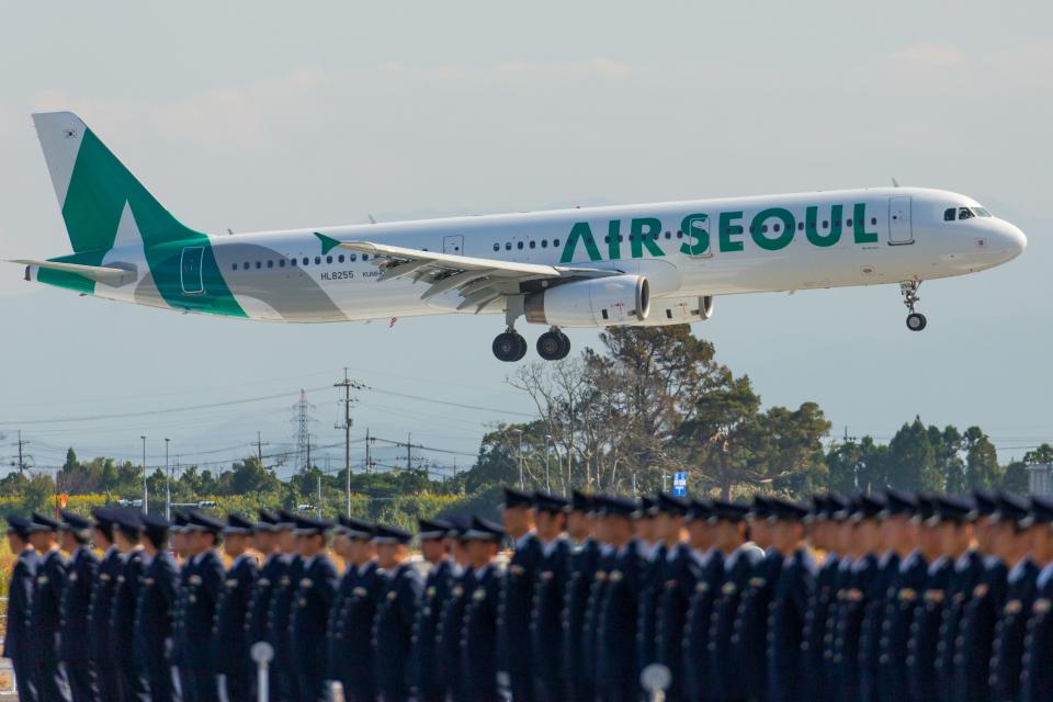 カヤノユウイチさんのエアソウル Airbus A321 (HL8255) 航空フォト