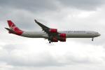 PASSENGERさんが、ロンドン・ヒースロー空港で撮影したヴァージン・アトランティック航空 A340-642の航空フォト(写真)