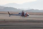 ピーチさんが、岡山空港で撮影した朝日航洋 AS355Nの航空フォト(写真)