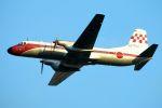 うめやしきさんが、厚木飛行場で撮影した航空自衛隊 YS-11-103FCの航空フォト(飛行機 写真・画像)