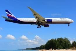 RUSSIANSKIさんが、プーケット国際空港で撮影したアエロフロート・ロシア航空 777-3M0/ERの航空フォト(写真)