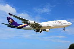 RUSSIANSKIさんが、プーケット国際空港で撮影したタイ国際航空 747-4D7の航空フォト(飛行機 写真・画像)