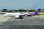 RUSSIANSKIさんが、シンガポール・チャンギ国際空港で撮影したタイ国際航空 A350-941XWBの航空フォト(写真)