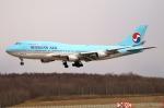 北の熊さんが、新千歳空港で撮影した大韓航空 747-4B5の航空フォト(写真)