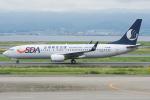 Tomo-Papaさんが、関西国際空港で撮影した山東航空 737-8FHの航空フォト(写真)