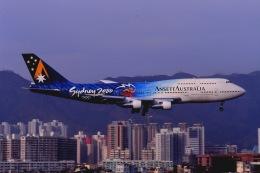 Yossy96さんが、啓徳空港で撮影したアンセット・オーストラリア航空 747-312の航空フォト(写真)