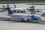 matsuさんが、フランクフルト国際空港で撮影したSATA インターナショナル A320-214の航空フォト(写真)