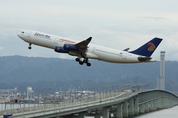 つみネコ♯2さんが、関西国際空港で撮影したエジプト航空 A340-212の航空フォト(写真)
