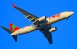 Tomo_lgmさんが、大分空港で撮影したティーウェイ航空 737-8Q8の航空フォト(写真)