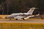 ヶローさんが、松本空港で撮影したグラフィック 525A Citation CJ1の航空フォト(写真)
