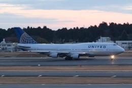 Mochi7D2さんが、成田国際空港で撮影したユナイテッド航空 747-422の航空フォト(飛行機 写真・画像)