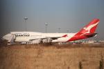 ぽんさんが、羽田空港で撮影したカンタス航空 747-438の航空フォト(写真)
