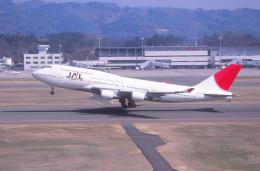 プルシアンブルーさんが、福島空港で撮影した日本航空 747-446の航空フォト(飛行機 写真・画像)
