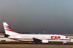 菊池 正人さんが、ヴァーツラフ・ハヴェル・プラハ国際空港で撮影したチェコ航空 737-45Sの航空フォト(飛行機 写真・画像)