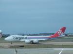 おかげ犬さんが、台湾桃園国際空港で撮影したカーゴルクス 747-4R7F/SCDの航空フォト(写真)