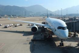 シフォンさんが、香港国際空港で撮影したキャセイパシフィック航空 A350-941の航空フォト(飛行機 写真・画像)