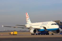 安芸あすかさんが、ザグレブ空港で撮影したクロアチア航空 A319-112の航空フォト(飛行機 写真・画像)