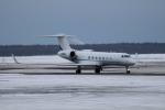 北の熊さんが、新千歳空港で撮影したウェルズ・ファーゴ・バンク・ノースウェスト G-V-SP Gulfstream G550の航空フォト(飛行機 写真・画像)