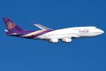 うまやどのおいるさんが、羽田空港で撮影したタイ国際航空 747-4D7の航空フォト(写真)