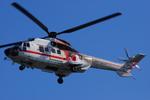 へりさんが、東京ヘリポートで撮影した朝日航洋 AS332L Super Pumaの航空フォト(写真)