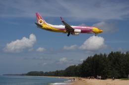 しかばねさんが、プーケット国際空港で撮影したノックエア 737-86Nの航空フォト(飛行機 写真・画像)