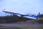 プルシアンブルーさんが、秋田空港で撮影した全日空 A321-131の航空フォト(写真)