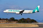 パンダさんが、静岡空港で撮影したエアソウル A321-231の航空フォト(飛行機 写真・画像)