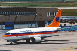 菊池 正人さんが、フランクフルト国際空港で撮影したハパック ロイド フルーク 737-5K5の航空フォト(飛行機 写真・画像)