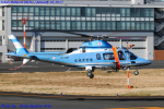 Chofu Spotter Ariaさんが、東京ヘリポートで撮影した宮城県警察 A109E Powerの航空フォト(飛行機 写真・画像)