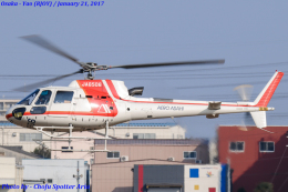 Chofu Spotter Ariaさんが、八尾空港で撮影した朝日航洋 AS350B3 Ecureuilの航空フォト(飛行機 写真・画像)
