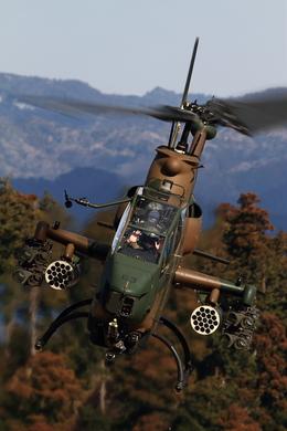 maruさんが、峯岡山分屯基地で撮影した陸上自衛隊 AH-1Sの航空フォト(写真)