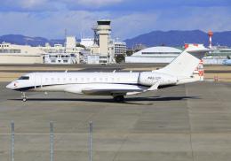 RA-86141さんが、名古屋飛行場で撮影したウェルズ・ファーゴ・バンク・ノースウェスト BD-700-1A10 Global Expressの航空フォト(飛行機 写真・画像)