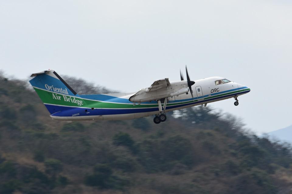 tsubasa0624さんのオリエンタルエアブリッジ Bombardier DHC-8-200 (JA802B) 航空フォト