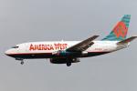菊池 正人さんが、ロサンゼルス国際空港で撮影したアメリカウエスト航空 737-277/Advの航空フォト(写真)