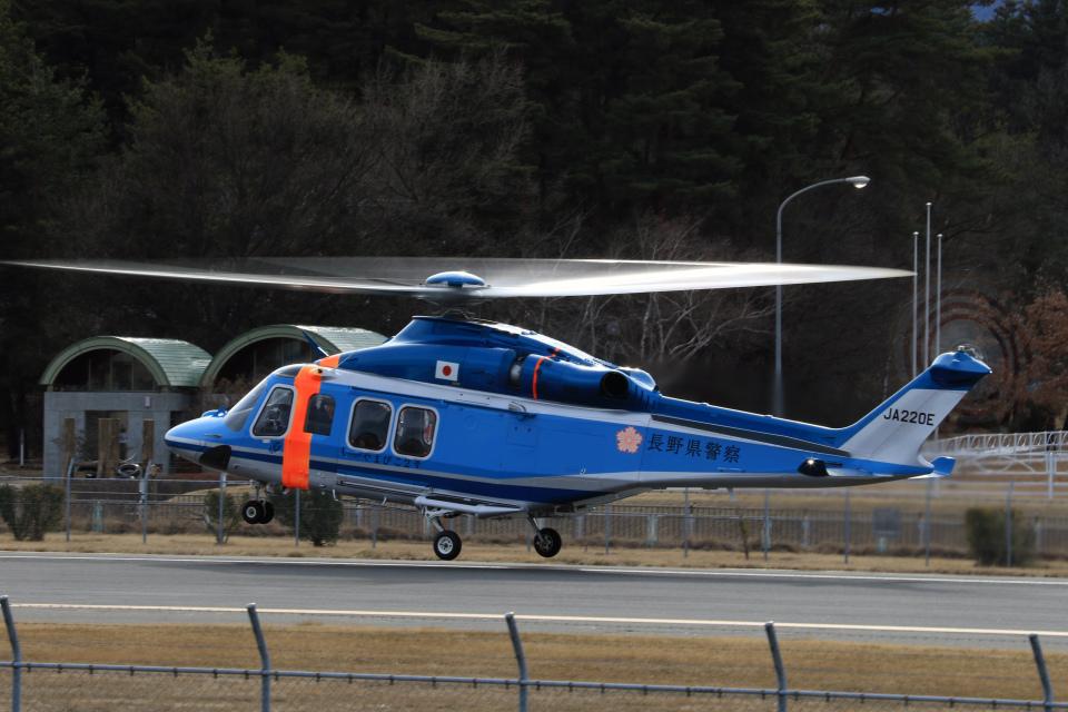 Nao0407さんの長野県警察 AgustaWestland AW139 (JA220E) 航空フォト