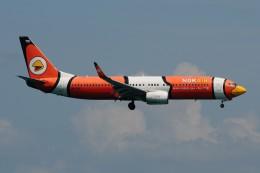 ぼんやりしまちゃんさんが、プーケット国際空港で撮影したノックエア 737-83Nの航空フォト(飛行機 写真・画像)