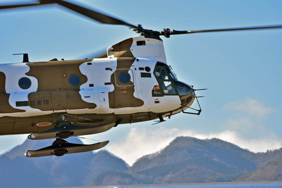 NIKKOREX Fさんの陸上自衛隊 Kawasaki CH-47J Chinook (52913) 航空フォト