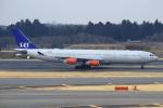 セブンさんが、成田国際空港で撮影したスカンジナビア航空 A340-313Xの航空フォト(飛行機 写真・画像)