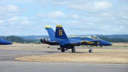 Saeqeh172さんが、ポートランド・ヒルズボロ空港で撮影したアメリカ海軍 F/A-18C Hornetの航空フォト(飛行機 写真・画像)