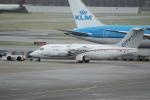yabyanさんが、アムステルダム・スキポール国際空港で撮影したシティジェット Avro 146-RJ85Aの航空フォト(飛行機 写真・画像)