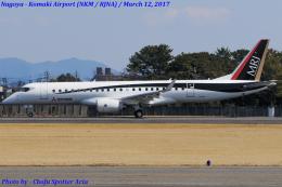 Chofu Spotter Ariaさんが、名古屋飛行場で撮影した三菱航空機 MRJ90STDの航空フォト(写真)