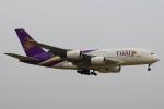 セブンさんが、成田国際空港で撮影したタイ国際航空 A380-841の航空フォト(飛行機 写真・画像)