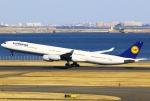 あしゅーさんが、羽田空港で撮影したルフトハンザドイツ航空 A340-642Xの航空フォト(飛行機 写真・画像)