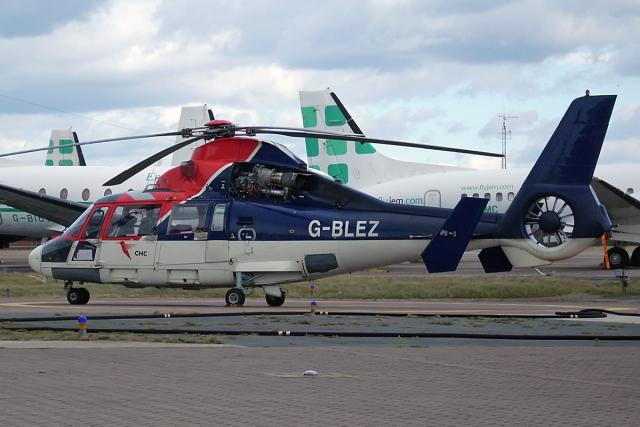 Echo-Kiloさんが、ブラックプール空港で撮影したCHC Scotia SA365N Dauphin 2の航空フォト(飛行機 写真・画像)